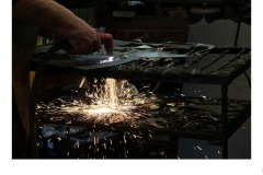 Welding sparks at workbench - Matthew Leane (Commended - Open B Grade - 13 Aug 2020 PDI)