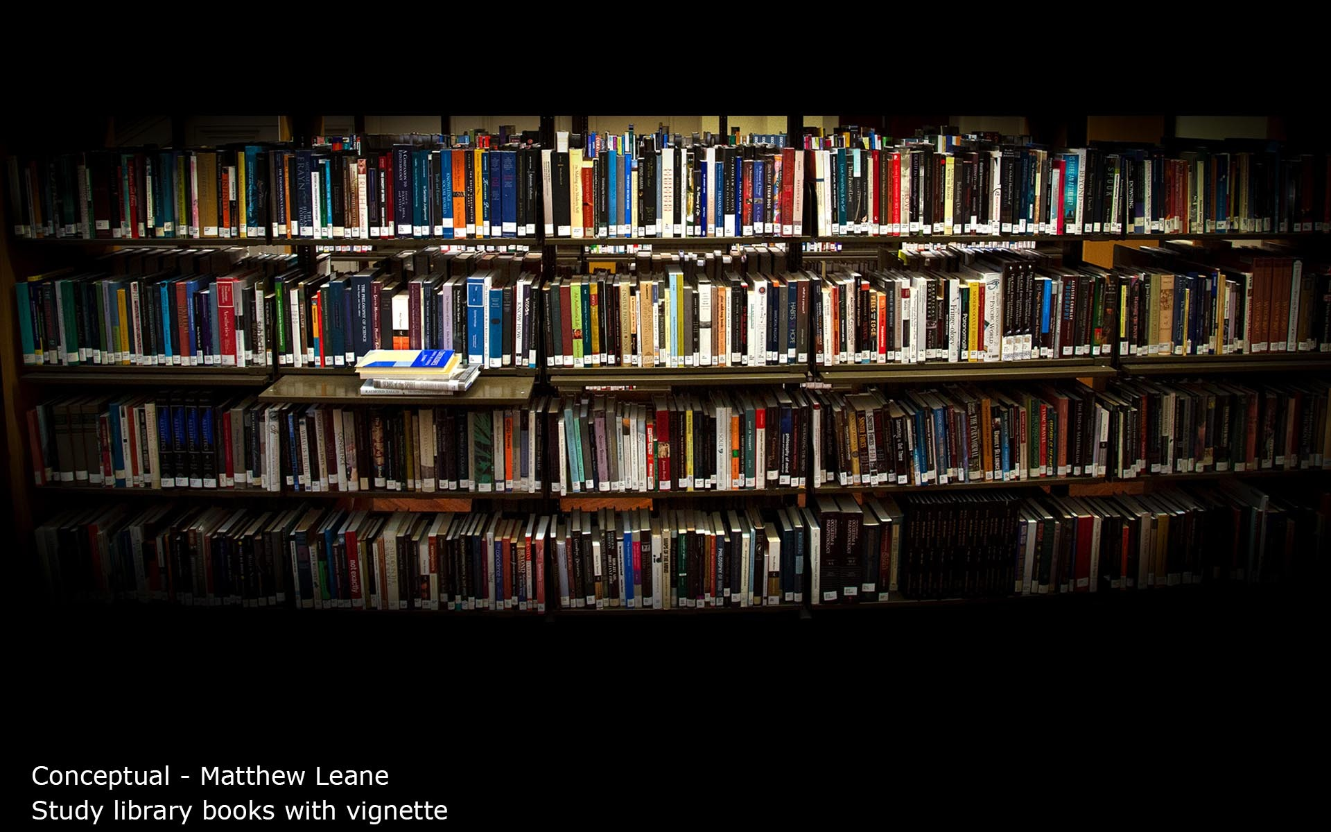 Study library books with vignette - Matthew Leane