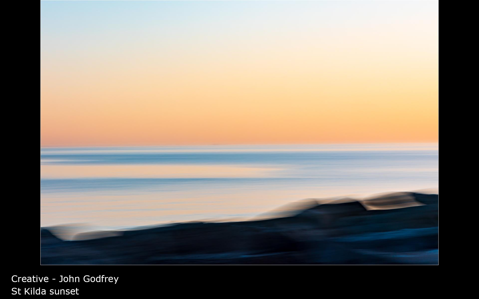 St Kilda sunset - John Godfrey