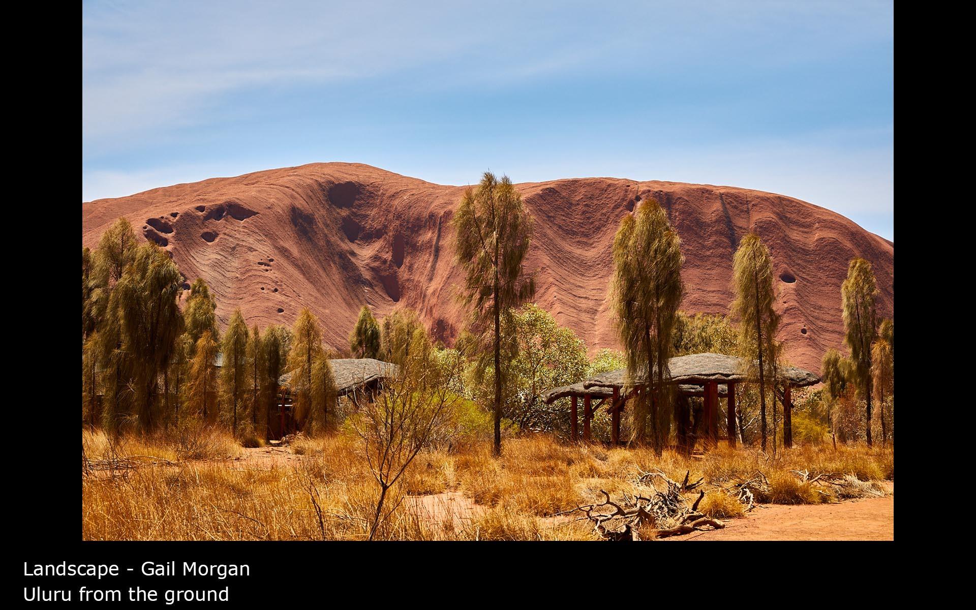 Uluru from the ground - Gail Morgan