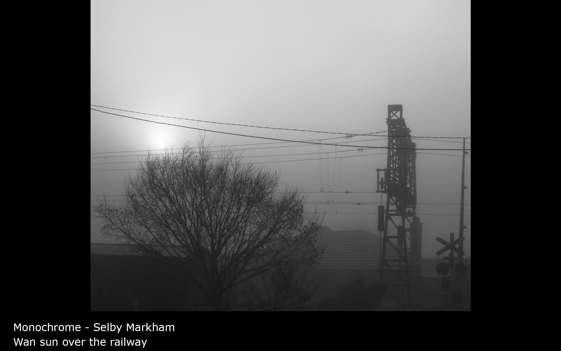 Wan sun over the railway - Selby Markham