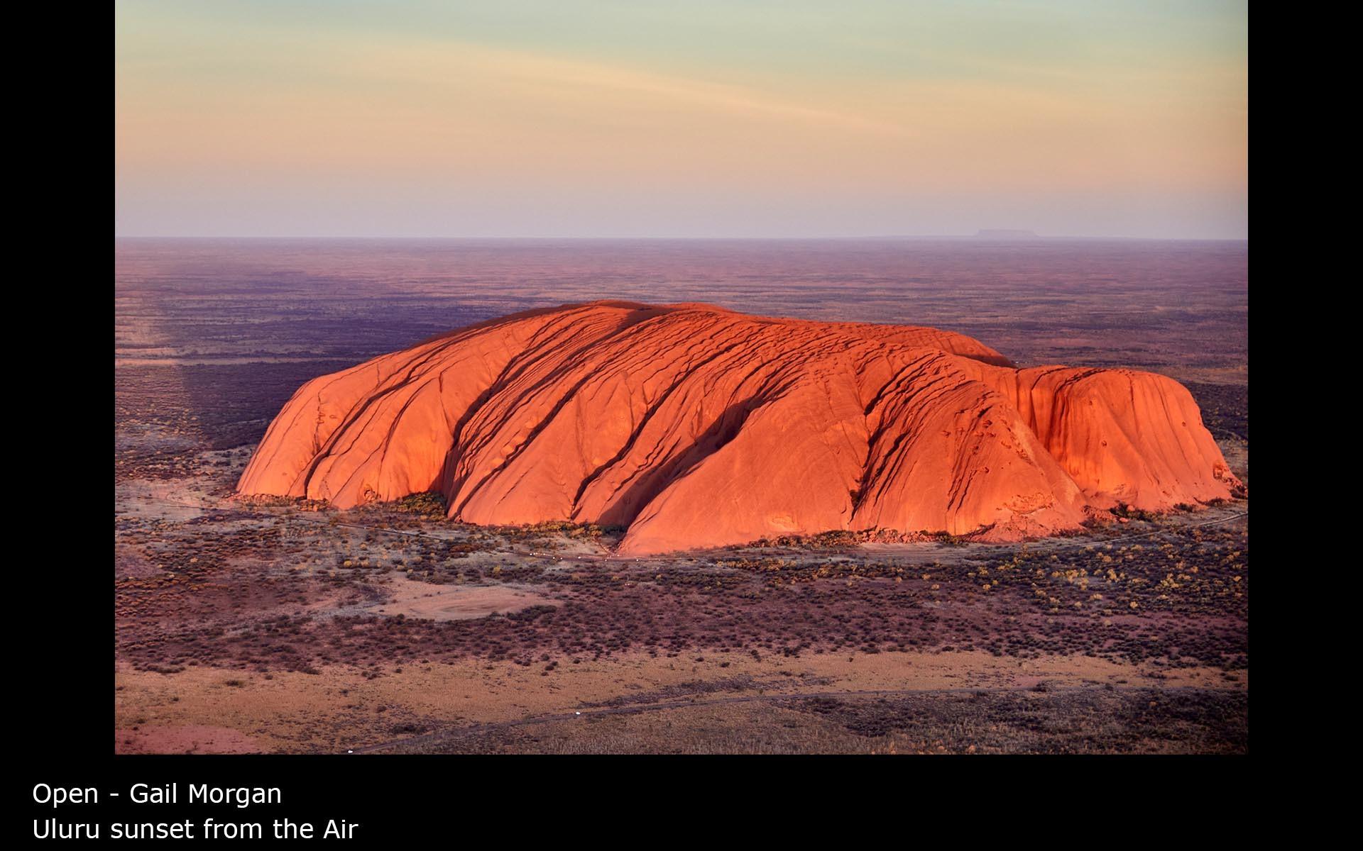 Uluru sunset from the Air - Gail Morgan