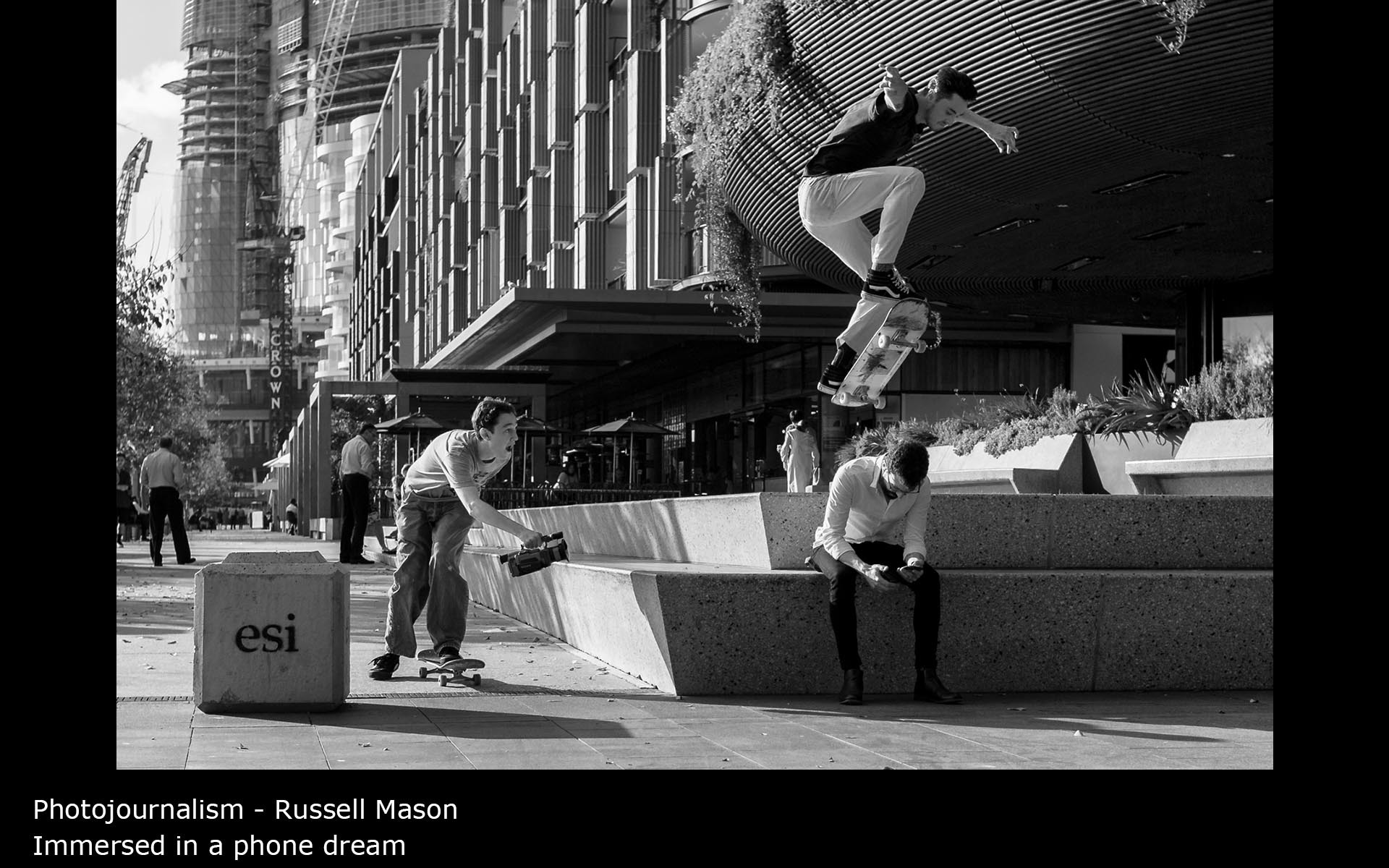 Immersed in a phone dream - Russell Mason