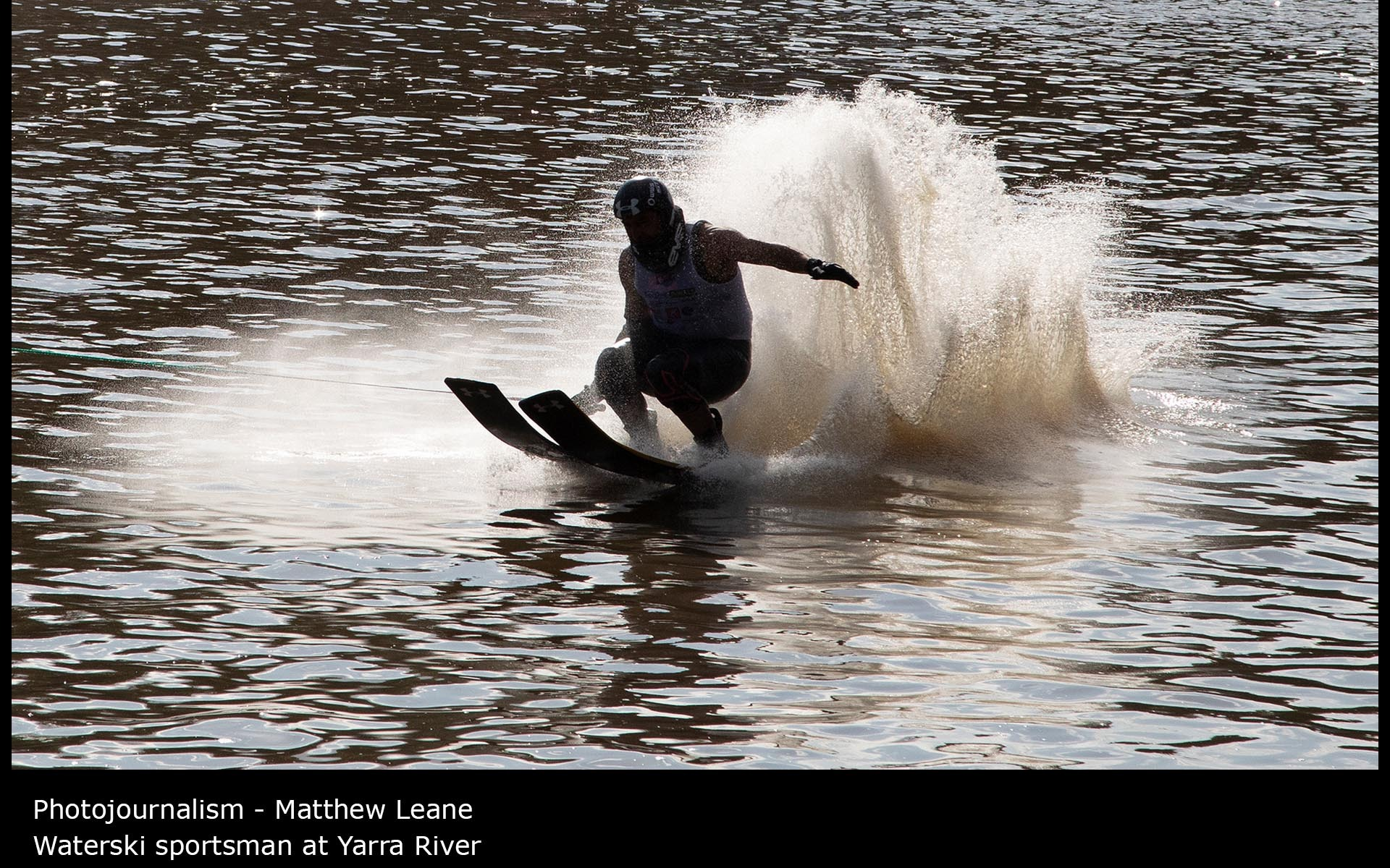 Waterski sportsman at Yarra River - Matthew Leane