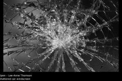 Shattered car windscreen - Lee-Anne Thomson