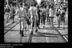 Walking to the train - Charles Wyatt