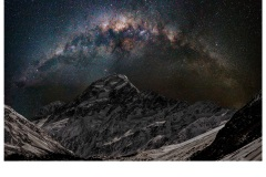 Galaxy over Aoraki - Charles Kosina (Highly Commended - Open - A Grade - July 2019 PDI)