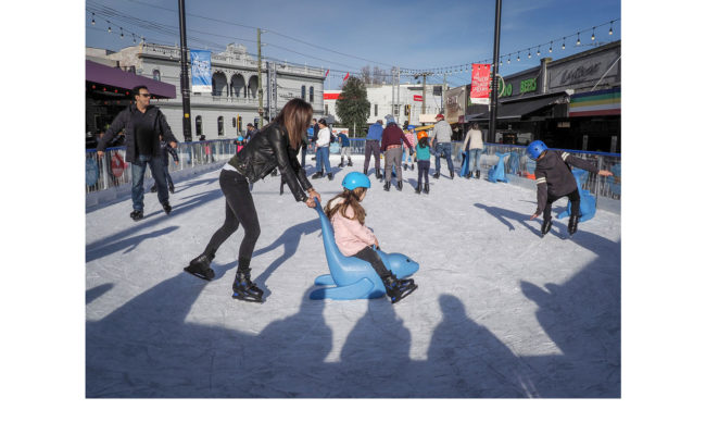Ice Skating in St Kilda - Marg Huxtable